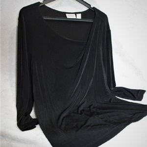 ⬇️$18 Chico's Top Size 3 Black Travelers Slinky